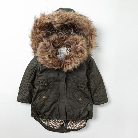 Girls Coat With Fur Hood Down Coat