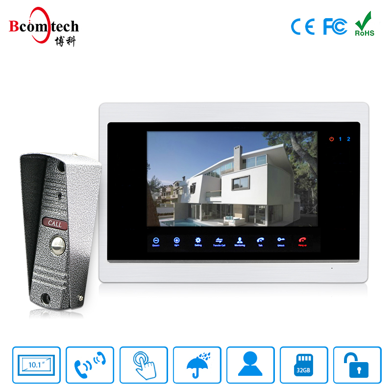 "2018 Hot Sale 10.1"" Video Entry System 4 Wire Villa Intercom Door Phone with Built-in PIR Motion Detection"