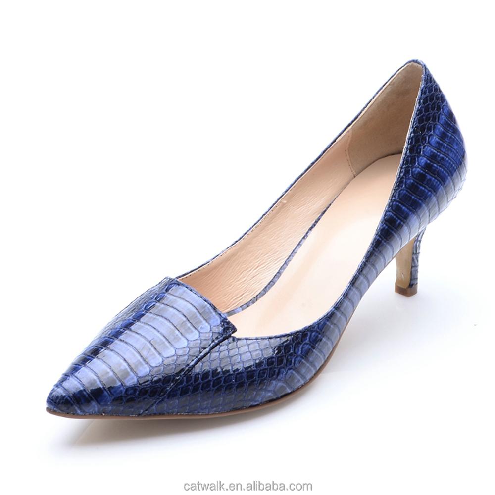 Blue Dress Shoes Low Heel