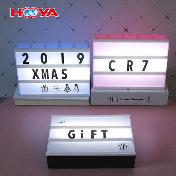 A4  DIY advvertising display cinema  light box with 96pcs  letters