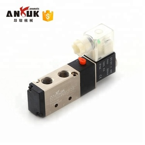 Pneumatic air 3 position 5 way solenoid valve