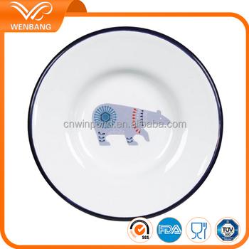 Enamel Metal Camping Plates Pet Plate
