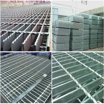 Galvanized Open Steel Floor Grating Galvanised Steel