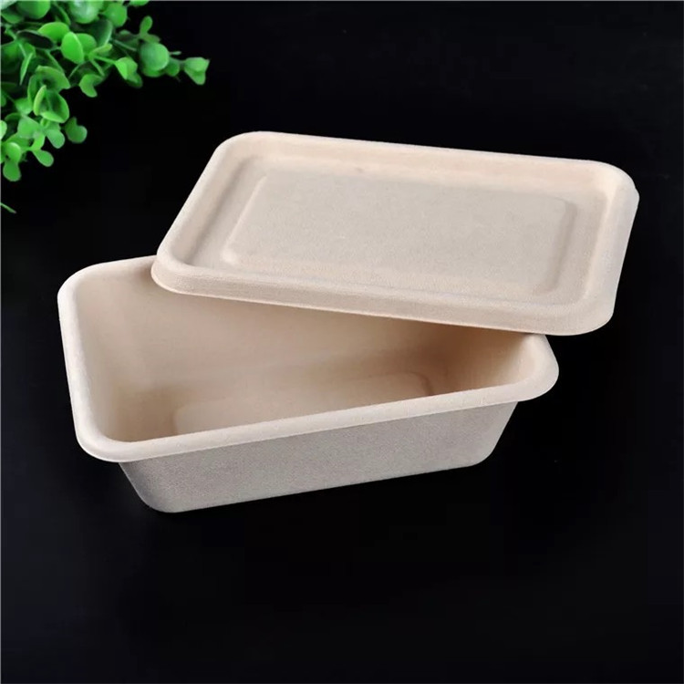 Kitchen Utensils Small Wooden Cake Packing Box For Food Bamboo Dinnerware Set