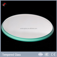 Tempered borosilicate round glass