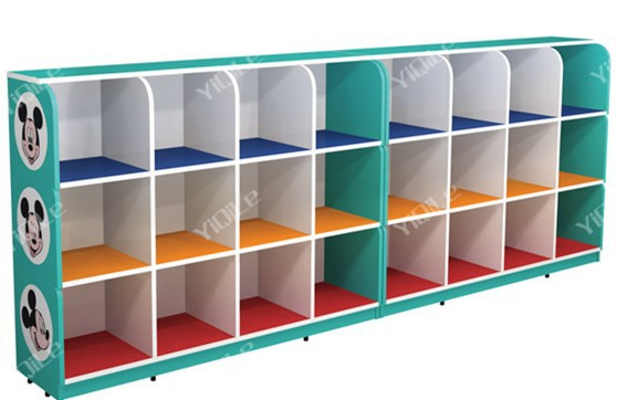 Modern school classroom indoor wooden toy children storage cabinet ...
