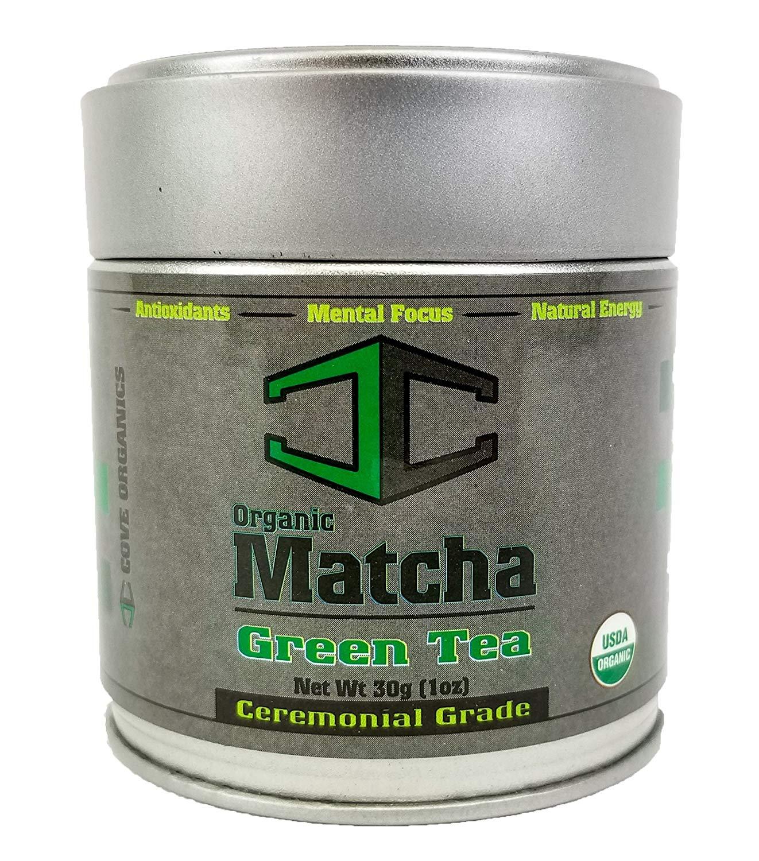 Matcha Green Tea Powder - USDA Organic - Premium Japanese Ceremonial Grade [30 gram] by Cove Organics