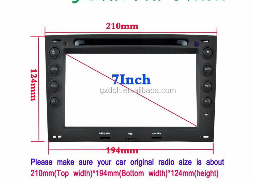 7 inch HD 1024X600 Octa Core 2GB RAM 32GB ROM Android 6.0 Car DVD Player for Renault Megane 2 ii 2003-2010 GPS Radio Ste WS-8741