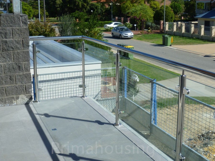 High quality balcony stainless steel glass railing design