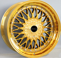 good quality rims 15 inch 8.0 gold vacuum chrome alloy wheel for car