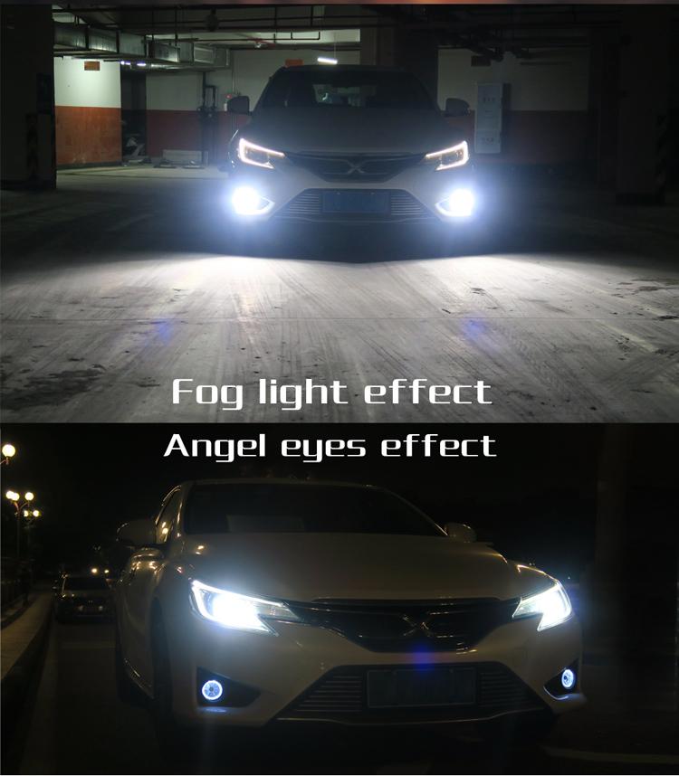 Mais novo 12 V 6 LED Angel Eyes Faróis de Nevoeiro Montagem luz de Nevoeiro da Frente para Ford Mondeo 2 3 Fusão Explorer 2010 2012 2013 2016