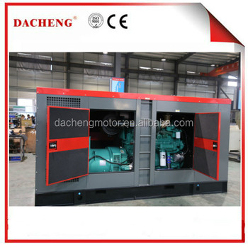 AC three phase 220V/380V/400V/250 kw silent diesel generator With Cummins Engine Diesel Power Industrial Generator 500kva