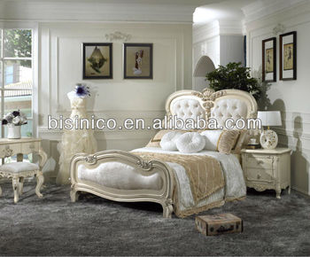 White New Classical Bedroom Furniture Set - Bed, Night Stand, Dresser with  Mirror, Stool, Wardrobe, MOQ:1SET(B21373), View bedroom furniture set ...