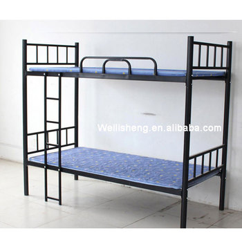 Double Decker Metal Bunk Beds Dormitory Beds Detachable For