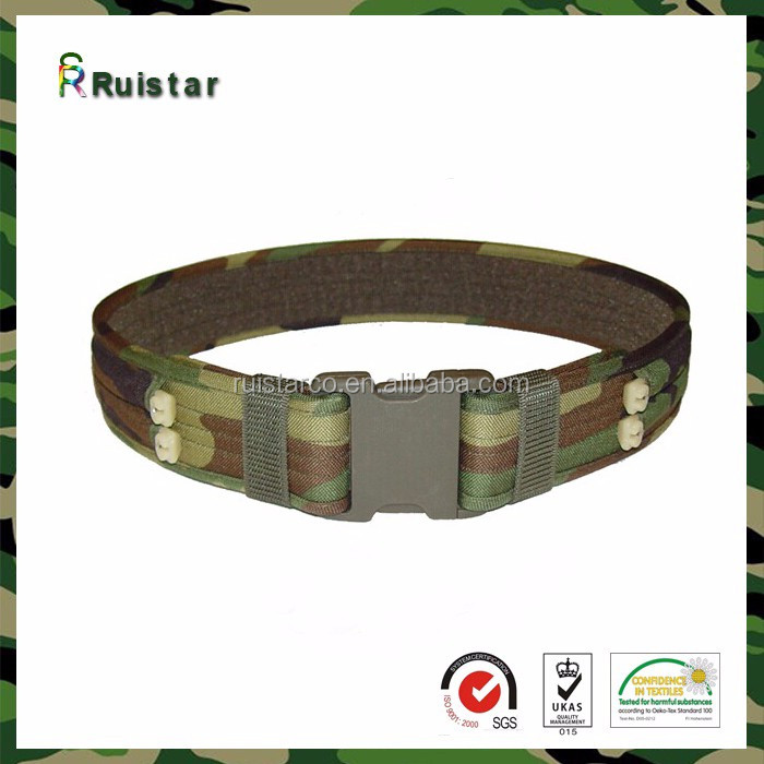 Quick release Nylon mens military canvas belt with iron buckle