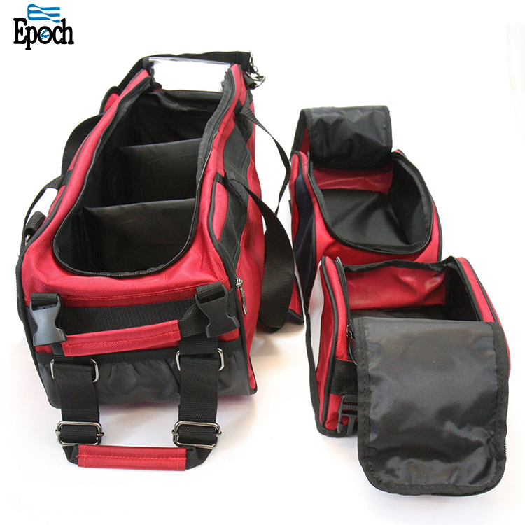Custom Durable rolling wheels bowling ball bags with detachable shoes and accessory bag
