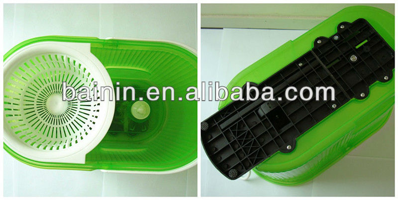 Green plastic bucket magic mop hot selling spin mop magic 360 cleaning mop.jpg