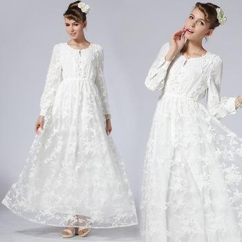 4d1776ddf583bc Z91373A 2016 Nieuwe zomer stijl bloemenprint vloerlengte bohemian jurken  lange mouw strand jurk