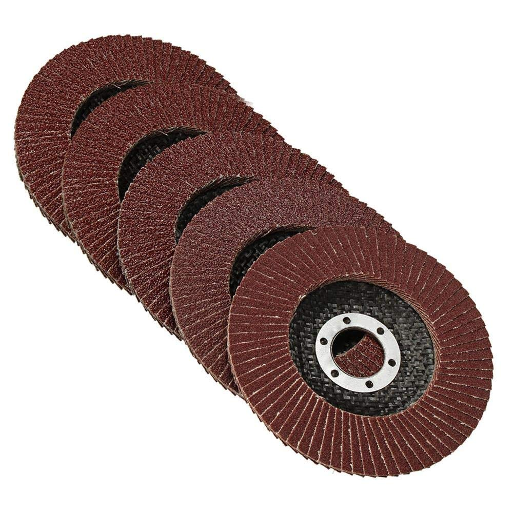 Farway 4.92 inch Flap Sanding Disc Wheel 40/60/80/100/120 Grit Angle Grinder Sanding Wheel 50Pcs