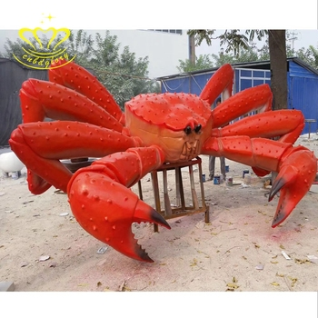 Cute Cartoon Art China Suppliers New Product Fiberglass Sculpture Crab For Garden Home Decor