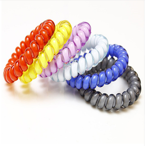 Candy Colors Elastic Telephone Wire Thin Hair Bands Cute Colors Stretch  Plastic Rubber Bands Hair Ties 9ebe0f2fb98