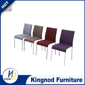 Chromed legs dining room chairs Colors Of Cloth Dining Chairs