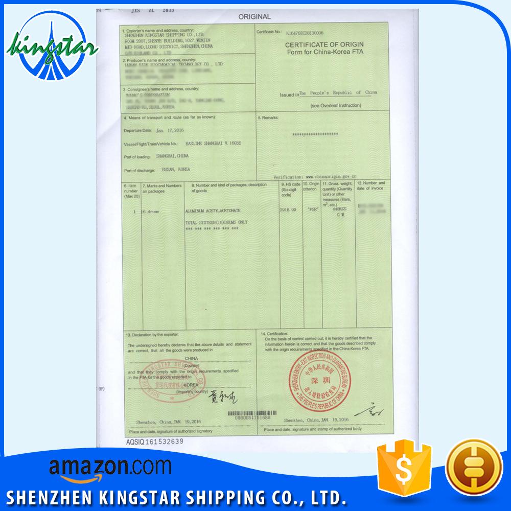 Certificate Of Origin Form F Certificate Of Origin Form F – Certificate of Origin Forms