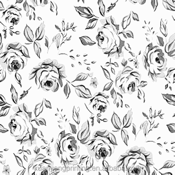 floral digital printed polyester chiffon fabric for dress