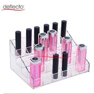 24 Stand Clear Acrylic Cosmetic Organizer Transparent for Lipstick Nail Polish Clear Case Display Rack Hoder