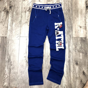 stock high quality Mens wholesale custom jogger pants printing knitting large embroidered patch logo Sweatpants Joggers for Mens