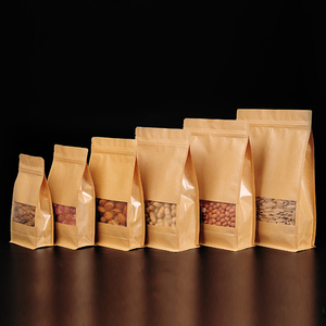 Eco Friendly Flat Bottom Paper Bag For Flour Packaging, Low Price Flat Bottom Paper Bag Packaging