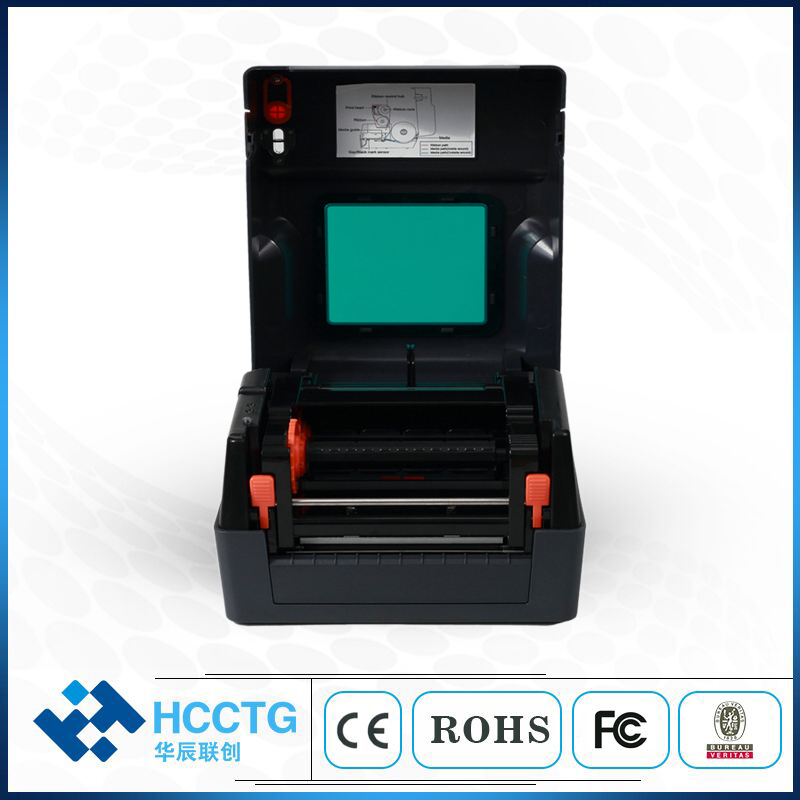 USB Paper Size 4 Inch Thermal Label Barcode Printer HRP400H