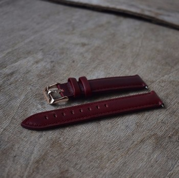 Hand-stitched high quality italian leather quick release watch strap