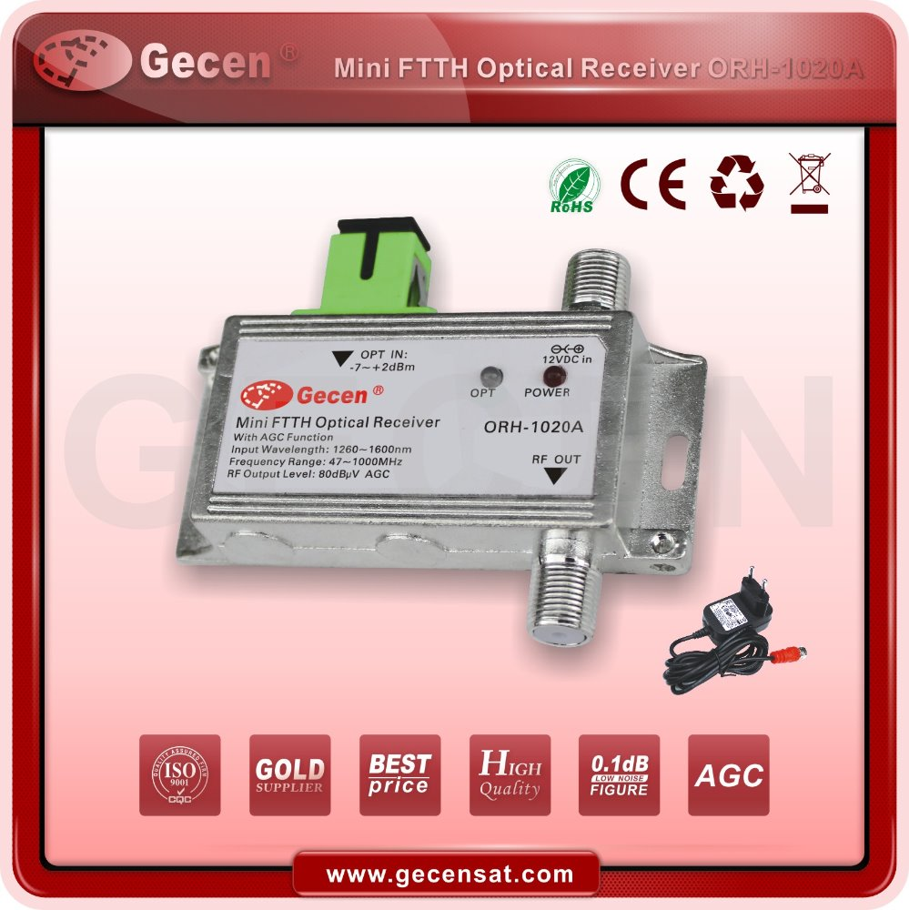 mini optical receiver support 1G with AGC/WDM