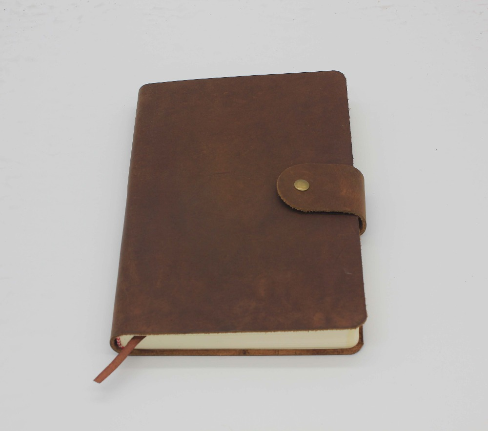 Personalized A5 genuine leather journal vintage leather travel handmade journals high quality for Canada market (CAN)