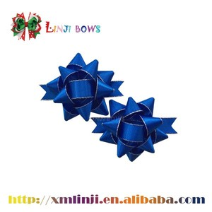 pre-made self adhesive ribbon bow/ star bow for gift packing box wrapping box