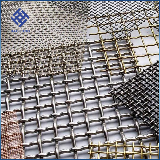 Direct factory Galvanized /stainless steel crimped wire mesh vibration screen / Sieving mesh