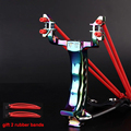 Powerful Steel Slingshot Folding With 2 Rubber Band Wrist Hunting Catapult Hunter Sling Shot Shooting Bow