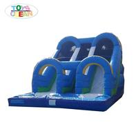 Fun park equipment outdoor used inflatable water slide for pool