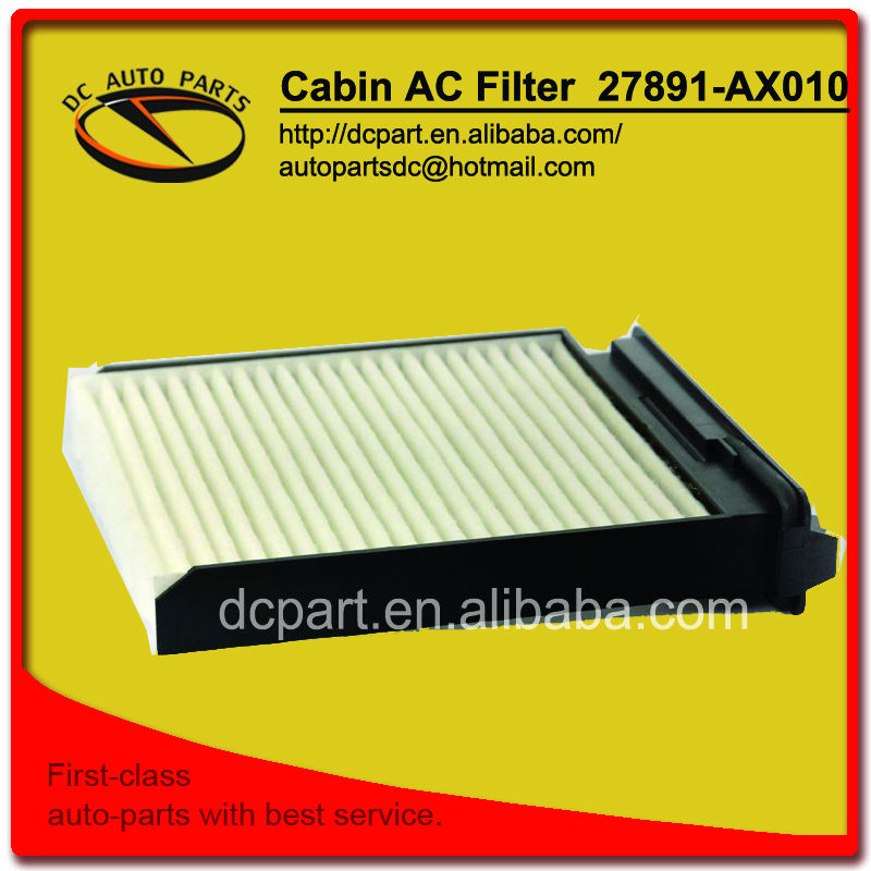 Cabin AC filter for CU1829 7701062227 27891-AX010 Nissan Tiida