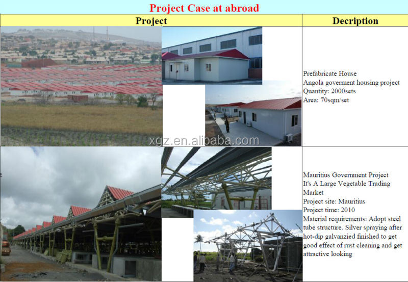 china low cost steel structure prefabricated houses engineering