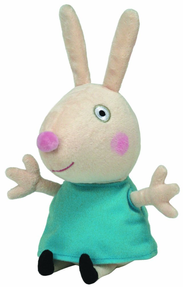 Get Quotations · Ty Peppa Pig UK Exclusive Beanie Baby Rebecca Rabbit bd1650085e1e