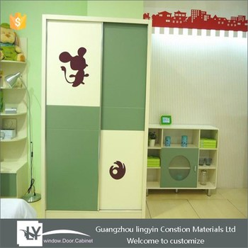 buy online 6bc0b a51a0 Cute Cartoon Kid Sliding Wardrobe Design With Eyeshield Mickey Pattern -  Buy Cartoon Kids Wardrobe Design,Open Wardrobe Design,Modern Sliding  Wardrobe ...