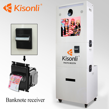 Led Free Standing Wedding Photo Booth Portable Printer Kiosk Photo