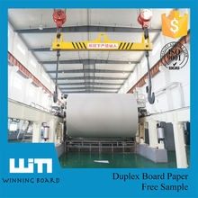 Fuyang PAPER AA+ Grade Good Stiffness Competitive Price 350gsm Duplex Board Grey Back /Paper Board price