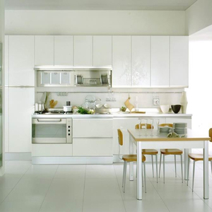 Most popular ready made high gloss lacquer mdf kitchen cabinet for house/hotel/restaurant projects