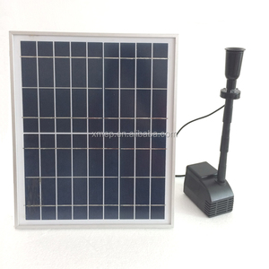 10W Solar water pool pump in Pond, 140cm water height