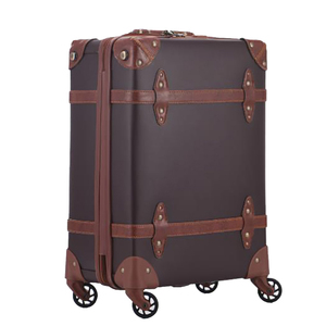 Vintage style PU Leather Suitcases 3 piece Luggage set