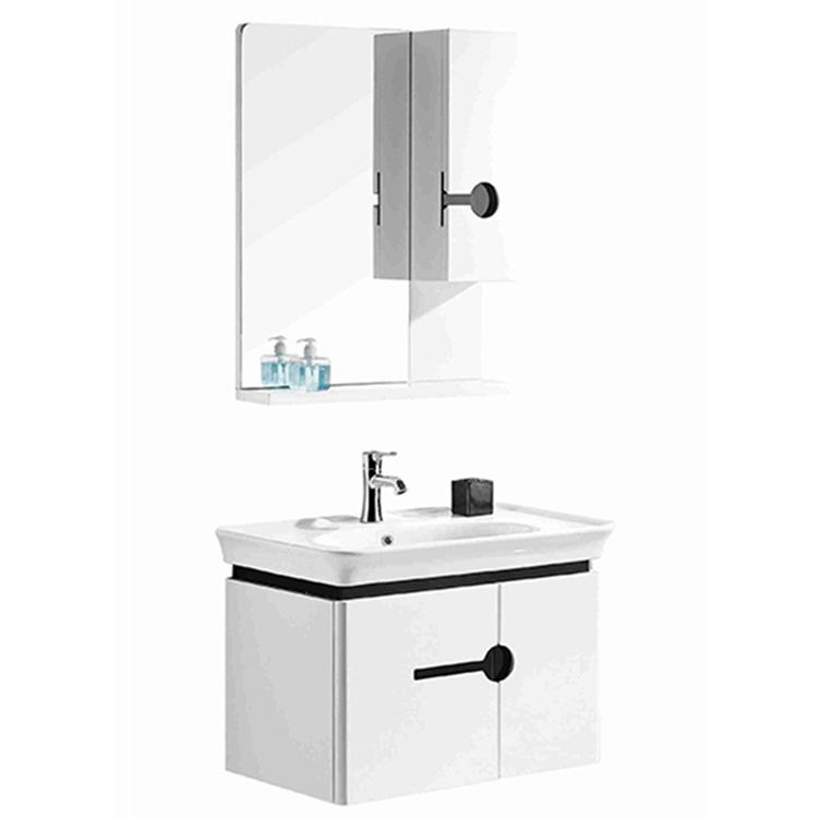 hanging wall slim sell light grey modern laminate bathroom cabinet