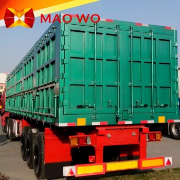 e6926dd272 Hot sale 3 axles enclosed fiberglass cargo box trailers standard side wall  cargo truck trailer
